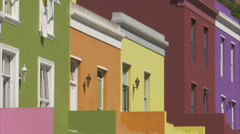 Colourful houses in Bo-Kaap Stock Footage