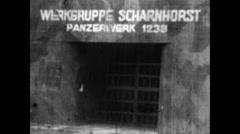 1939 - German Tank Factory Scharnhorst 01 Stock Footage