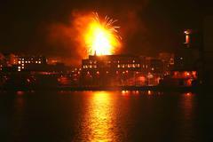 Stock Photo of urban fireworks