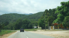 East Malaysia Road Trip Across Village, Forest and Rural Areas Stock Footage
