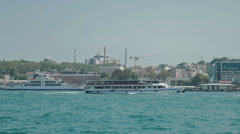 HD video looking out over the Bosphorus in Istanbul Stock Footage