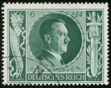 Stamp with hitler Stock Photos