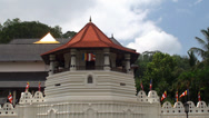 Stock Video Footage of Temple of  Sacred Tooth Relic in Kandy, Sri Lanka.