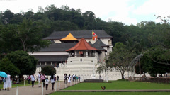 Temple of  Sacred Tooth Relic in Kandy, Sri Lanka. Stock Footage