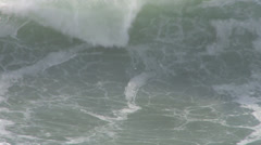 Loud Waves Crashing Close Up Stock Footage
