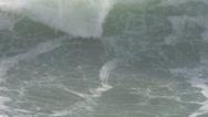 Stock Video Footage of Loud Waves Crashing Close Up