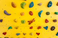 Stock Photo of climbing wall