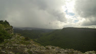Stock Video Footage of Rain in the mountains. Crimea. Ukraine.