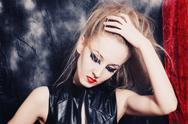 Stock Photo of young woman with bright gothic makeup