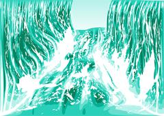 water flow - stock illustration