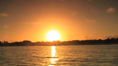 Watching the Sun fade away on a Boat Stock Footage