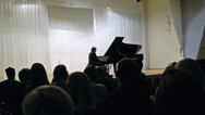 Stock Video Footage of Spectators listening to pianist Vladimir Mischouk  in Petrozavodsk philharmonic