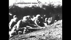 1941 - Wehrmacht in Russia 05 - Attack on Rostov 03 Stock Footage