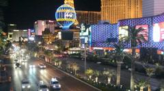 Las Vegas Strip in Las Vegas, Nevada. Stock Footage