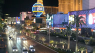 Stock Video Footage of Las Vegas Strip in Las Vegas, Nevada.