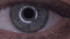 Pupil - the human eye Stock Footage