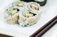 Stock Photo of california sushi roll