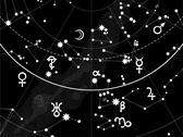 Astronomical celestial atlas (fragment) Stock Illustration
