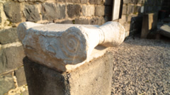 Remains of an Ancient Marble Column  (HD) Stock Footage