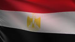 Egypt flag. Medium close-up shot Stock Footage