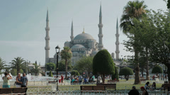 The magnificent Sultanahmet Camii Blue Mosque in Istanbul in full HD Stock Footage