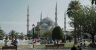 Stock Video Footage of The magnificent Sultanahmet Camii Blue Mosque in Istanbul in 4K