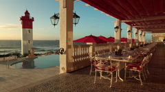 The Oyster Box in Umhlanga Stock Footage