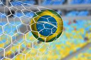 Stock Illustration of Amazing brazilian goal