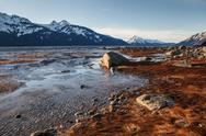 Stock Photo of winter sun on the chilkat inlet