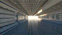 Sci-fi hangar Stock Footage