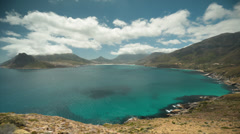 Hout Bay from Chapman's Peak Drive Stock Footage