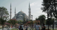 Stock Video Footage of 4K video of the magnificent Sultanahmet Camii Blue Mosque in Istanbul