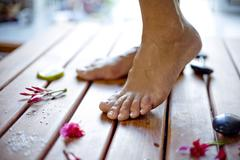 pedicure and foot care - stock photo