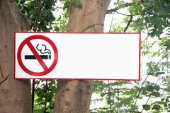 stop labels smoking. - stock photo