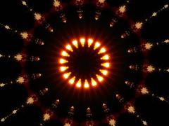 FireBall Kaleidoscope - stock photo