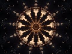 Darkened Spike Kaleidoscope - stock illustration