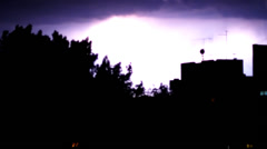 Storm lighting by night. 2 Stock Footage