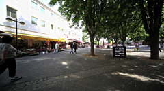 Daily Life at Center of Neuwied as wide shot Stock Footage