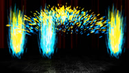 Stock After Effects of Fireworks Curtain Template