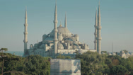 Stock Video Footage of The stunning Sultanahmet Camii Blue Mosque in Istanbul in full HD