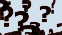 Floating Question Marks - stock footage