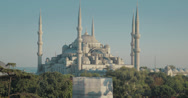 Stock Video Footage of The stunning Sultanahmet Camii Blue Mosque in Istanbul in 4K