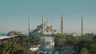 Stock Video Footage of HD video of the stunning Sultanahmet Camii Blue Mosque in Istanbul