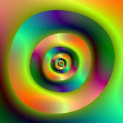 Psychedelic Inside Outside Rings Stock Illustration