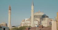 Stock Video Footage of 4K video of the stunning Hagia Sophia Mosque in Istanbul