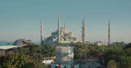 Stock Video Footage of 4K video of the stunning Sultanahmet Camii Blue Mosque in Istanbul