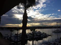 Marina Del Rey, CA  Sunrise - stock photo