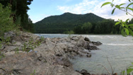 Stock Video Footage of rapid for the katun river. altai krai. russia.