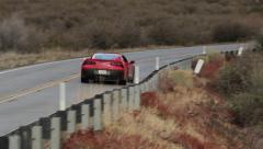 Corvette C7 Stingray Drive-By Tracking Telephoto Stock Footage