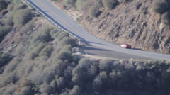 Stock Video Footage of Corvette C7 Stingray Long Telephoto Tracking Shot